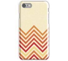 Warm Retro lines iPhone Case/Skin