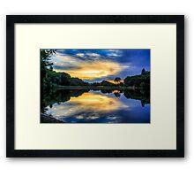 Lake Reflection Framed Print