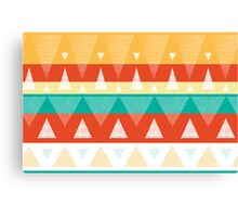 Vibrant textured triangles stripes pattern Canvas Print