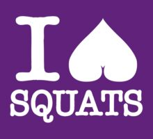 I Heart Shape Love Squats (white ink) Workout Tee. Crossfit Tee. Exercise Tee. Weightlifting Tee. Running Tee. Fitness by Max Effort