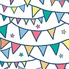 colorful party bunting pattern by oksancia