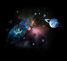 Deep Space-Saturn by augustinet