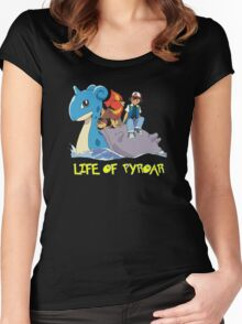 Life Of Pyroar Women's Fitted Scoop T-Shirt