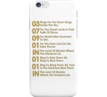 The Verse Of The Rings iPhone Case/Skin