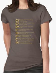 The Verse Of The Rings Womens Fitted T-Shirt