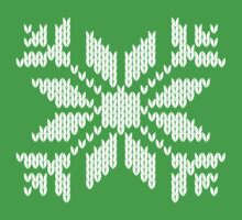 Knitted Snowflake Kids Tee