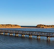 Lossiemouth footbridge to beach. by JASPERIMAGE