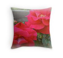 Red Roses For My Love Throw Pillow