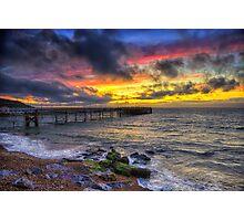 Totland Pier Sunset Photographic Print