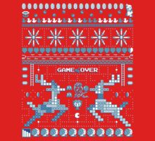 Game Over - 8-bit Ugly Christmas Sweater One Piece - Long Sleeve
