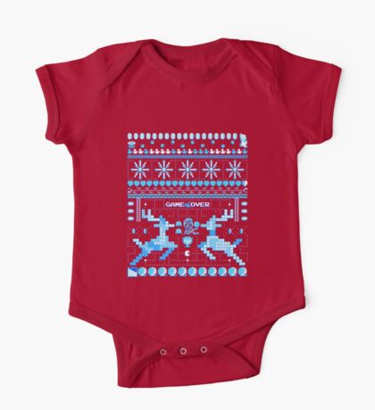 Game Over - 8-bit Ugly Christmas Sweater One Piece - Short Sleeve