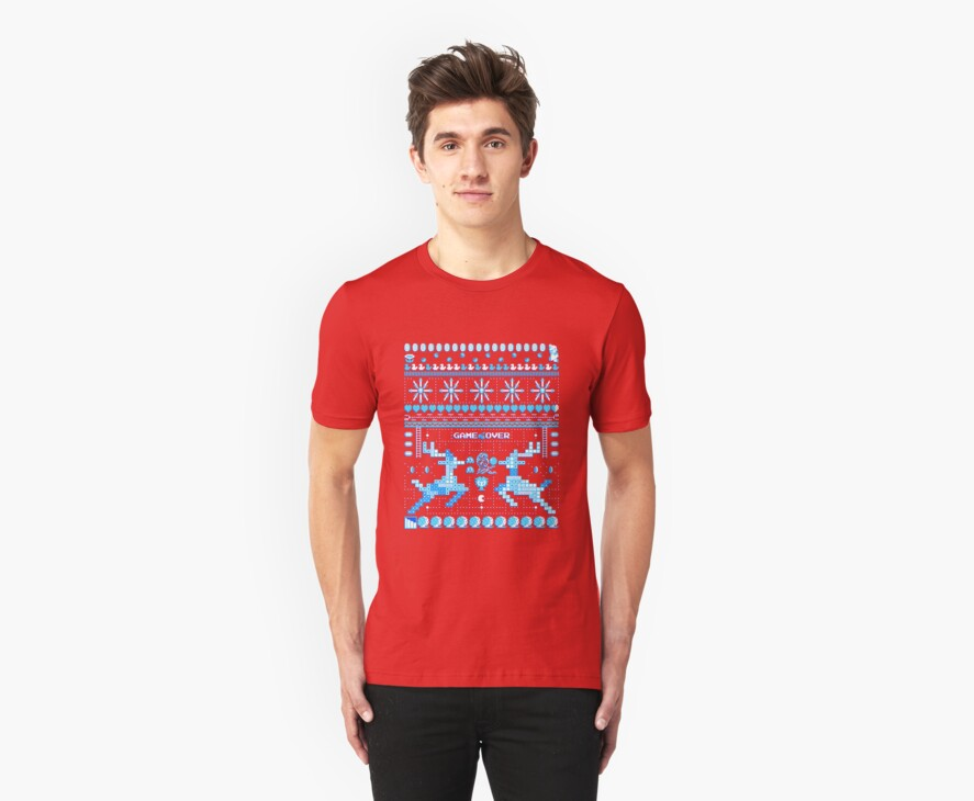 Game Over - 8-bit Ugly Christmas Sweater by purvart
