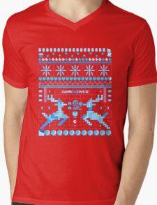 Game Over - 8-bit Ugly Christmas Sweater Mens V-Neck T-Shirt