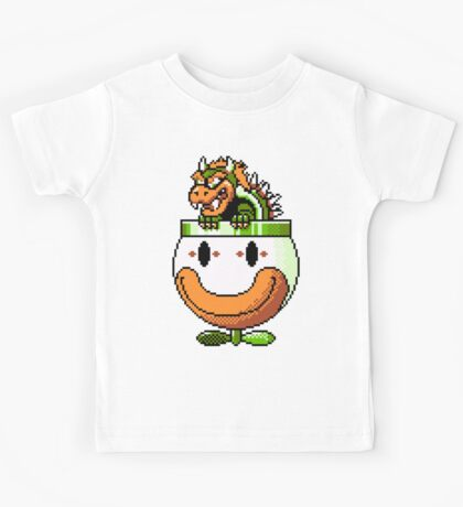 Bowser and Clown Copter Kids Tee