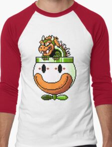 Bowser and Clown Copter Men's Baseball ¾ T-Shirt