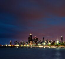 Chicago at Night by Lauri Novak