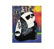 Panda Zen Master Art Print
