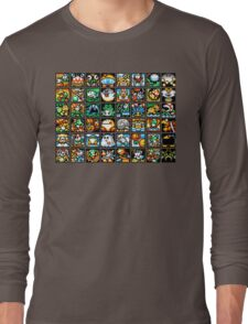 Yoshi's Island Level Icons Long Sleeve T-Shirt