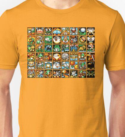 Yoshi's Island Level Icons Unisex T-Shirt