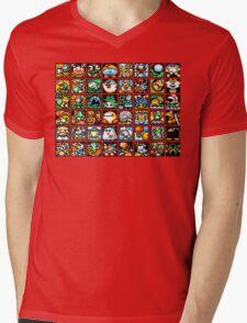 Yoshi's Island Level Icons Mens V-Neck T-Shirt