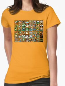 Yoshi's Island Level Icons Womens Fitted T-Shirt