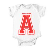 Big Red Letter A One Piece - Short Sleeve