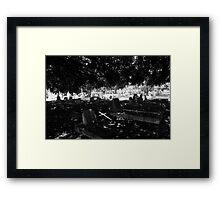 The Fallen Cross Framed Print