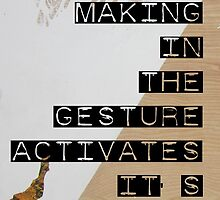 The Mechanic Mark Making in the Gesture Activates It's Distinct Formal Qualities by Addison Herndon
