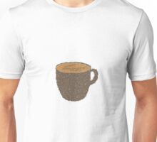 Coffee Grounds Coffee Cup Unisex T-Shirt