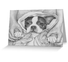 Little Paws in Strong Hands Greeting Card
