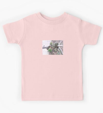 Colourful Chameleon Wrapped Around A Branch Kids Tee