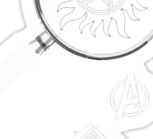 Multifandom - White Sticker