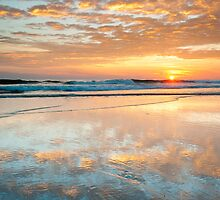 North Carolina Outer Banks Beach Sunrise Scenic by MarkVanDyke