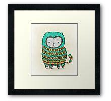 cozy cat Framed Print