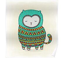 cozy cat Poster