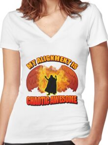 Chaotic Awesome Women's Fitted V-Neck T-Shirt