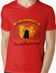 Chaotic Awesome Mens V-Neck T-Shirt