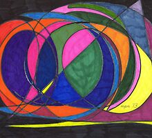 Abstract Circle Ship by Mary Pat Nally