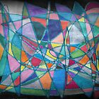 Abstract Fish through Hoop by Mary Pat Nally