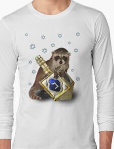 Hanukkah Raccoon Long Sleeve T-Shirt