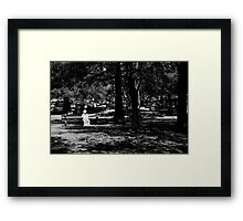 I Sit And I Wait Framed Print