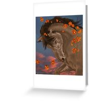 Flaring Flowers Greeting Card