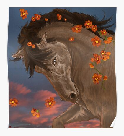 Flaring Flowers Poster