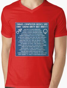 Dirty Things Computer Geeks Say Mens V-Neck T-Shirt