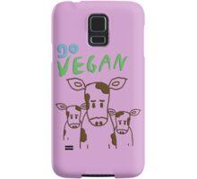 GO VEGAN - CALVES Samsung Galaxy Case/Skin