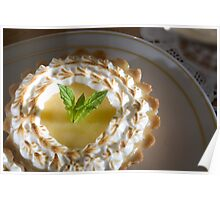 Citrus tartlet with thyme meringue Poster