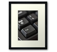 In control? Framed Print