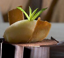 Chocolate-coated mascarpone cream  by Stefan Bau