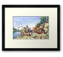 Summer fishing. Big catch Framed Print