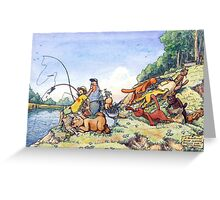 Summer fishing. Big catch Greeting Card